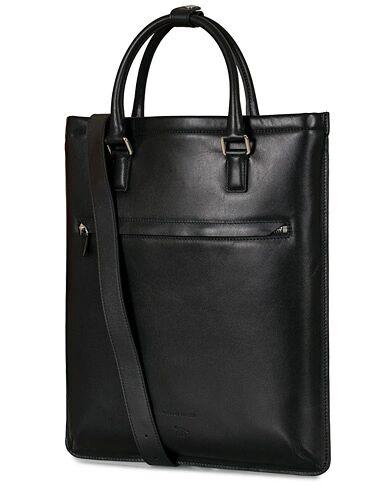 Tiger of Sweden Behrens Smooth Leather Tote Bag Black