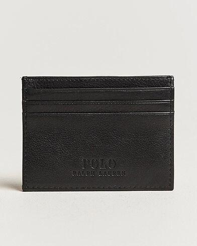Image of Ralph Lauren Pebble Leather Slim Card Case Black
