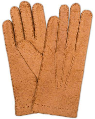 Hestra Peccary Handsewn Unlined Glove Cognac