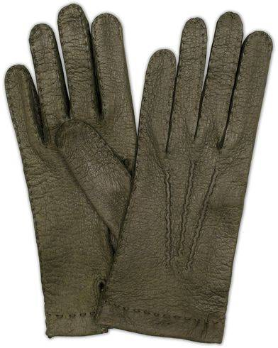 Hestra Peccary Handsewn Unlined Glove Forrest Green
