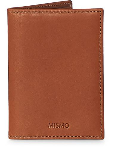 Mismo Leather Credit Card Wallet Tabac