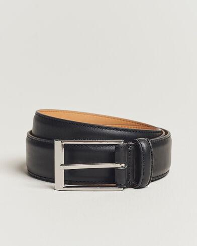 Tiger of Sweden Helmi Leather 3,5 cm Belt Black
