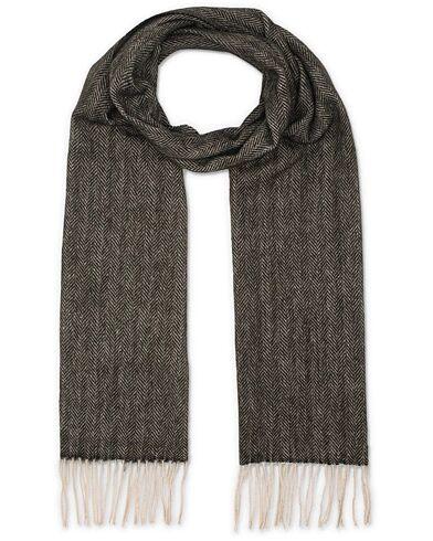 Amanda Christensen Merino Wool Herringbone Scarf Black