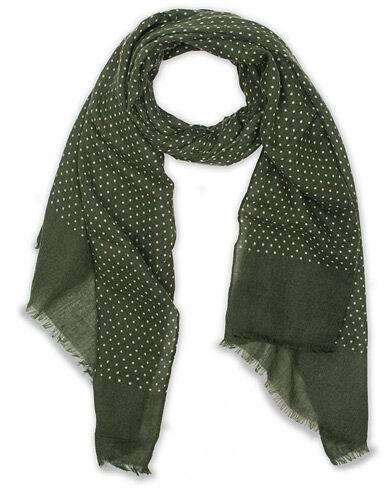 Amanda Christensen Wool Printed Dot Scarf Green
