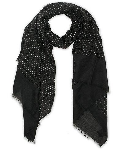 Amanda Christensen Wool Printed Dot Scarf Black