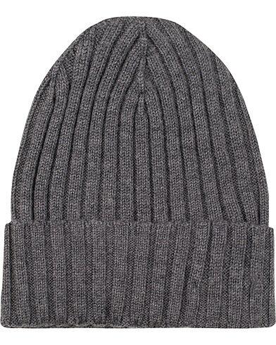 Amanda Christensen Rib Knitted Merino Cap Grey