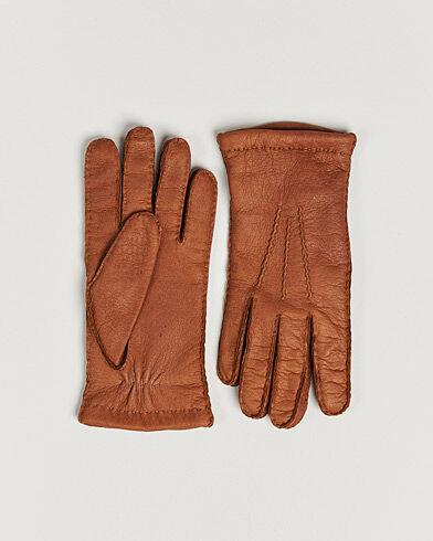 Hestra Peccary Handsewn Cashmere Glove Cognac