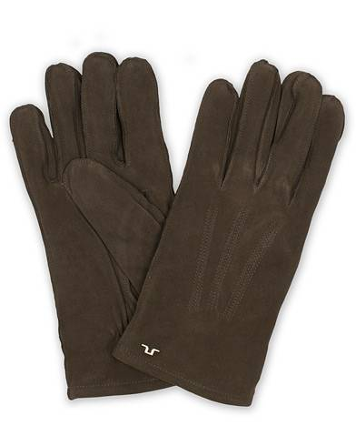 J.Lindeberg Nolo Suede Glove Dark Brown