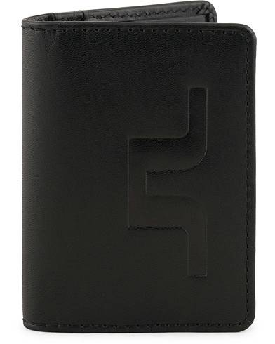 J.Lindeberg Leather Credit Card Holder Black