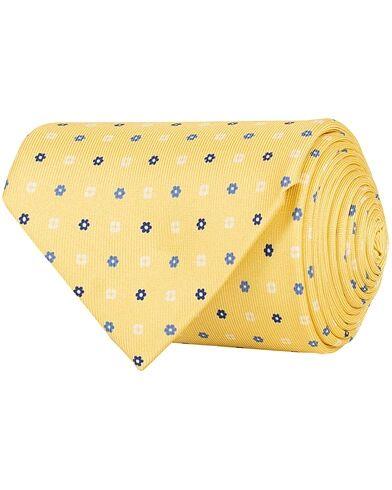 E. Marinella 3-Fold Printed Multi Dot Silk Tie 8 Cm Yellow
