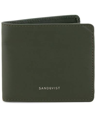 Sandqvist Manfred Vegetable Tanned Leather Wallet Green