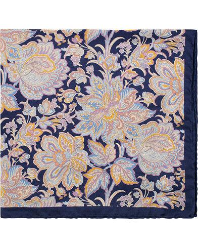 Amanda Christensen Silk Twill Printed Big Paisley Flower Pocket Square