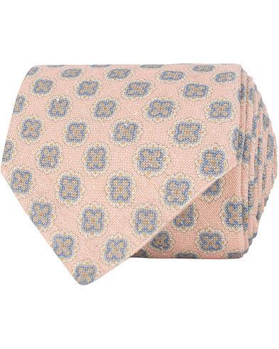 Amanda Christensen Silk/Cotton Bourette Printed Medalion 8 cm Tie Pink