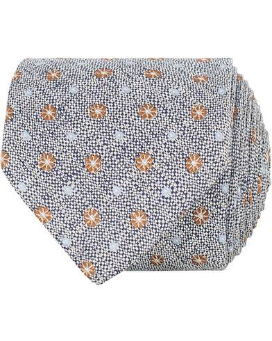Amanda Christensen Linen/Silk/Cotton Woven 8 cm Tie Navy