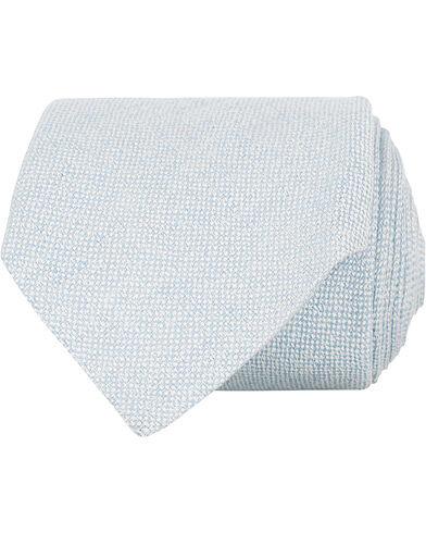 Amanda Christensen Linen/Silk/Cotton 8 cm Tie Light Blue