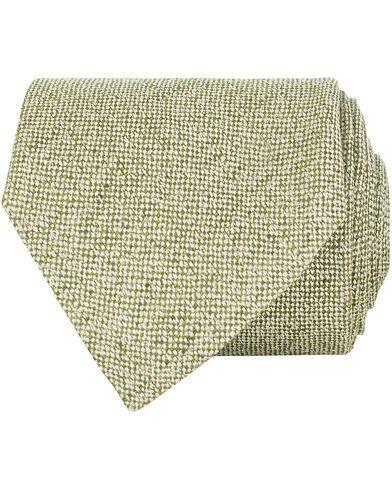 Amanda Christensen Linen/Silk/Cotton 8 cm Tie Green