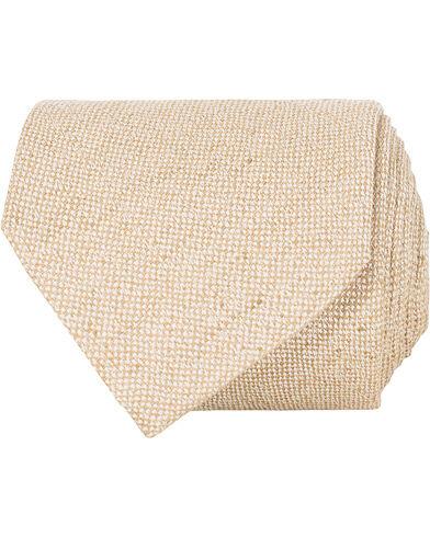 Amanda Christensen Linen/Silk/Cotton 8 cm Tie Beige