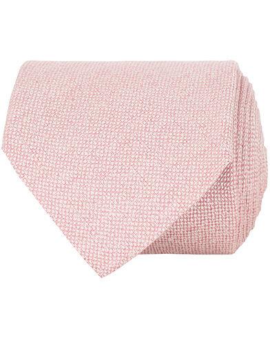Amanda Christensen Linen/Silk/Cotton 8 cm Tie Pink
