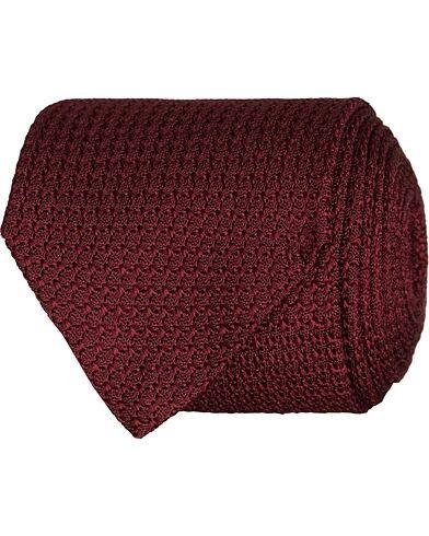 Amanda Christensen Silk Grenadine 8 cm Tie Wine Red