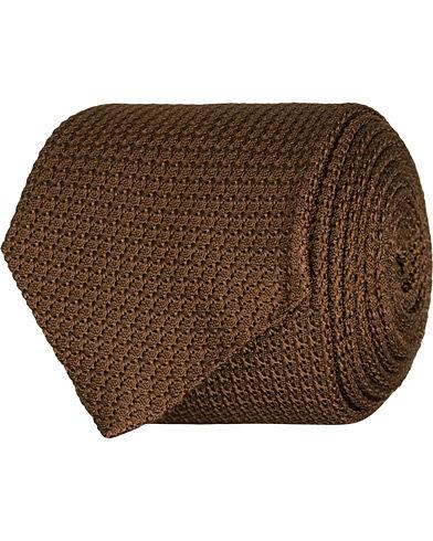Amanda Christensen Silk Grenadine 8 cm Tie Brown
