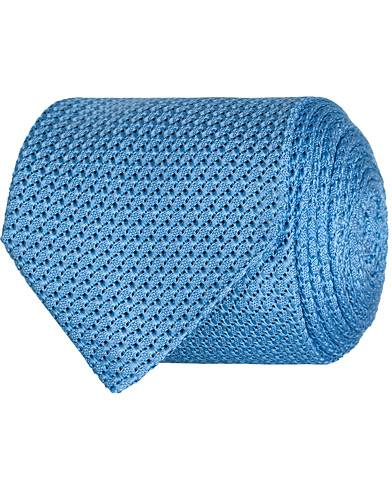 Amanda Christensen Silk Grenadine 8 cm Tie Light Blue