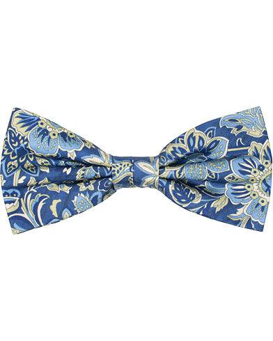 Amanda Christensen Silk Twill Printed Large Flower Bow Tie Navy