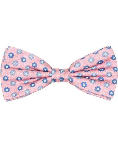 Amanda Christensen Silk Twill Printed Flower Bow Tie Pink