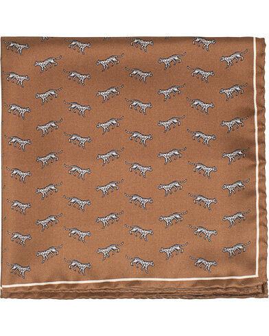 Tiger of Sweden Plex Tiger Printed Pocket Square Brown