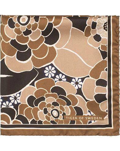 Tiger of Sweden Pas Flower Printed Pocket Square Brown