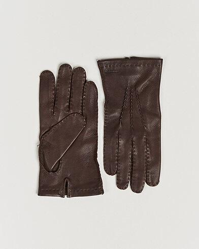 Hestra Henry Unlined Deerskin Glove Chocolate