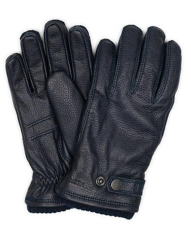 Hestra Utsjö Fleece Liner Buckle Elkskin Glove Navy