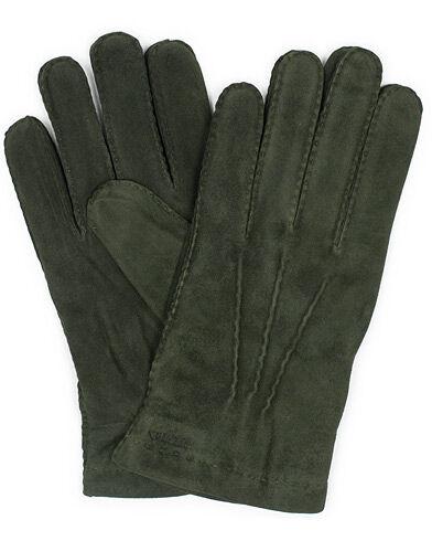 Hestra Arthur Wool Lined Suede Glove Dark Olive