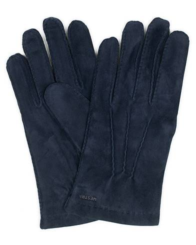 Hestra Arthur Wool Lined Suede Glove Navy