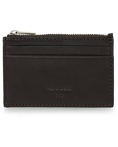 Tiger of Sweden Wahren Zip Card Holder Brown