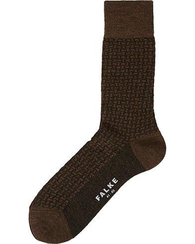Falke Tailored Tweed Wool Sock Brown