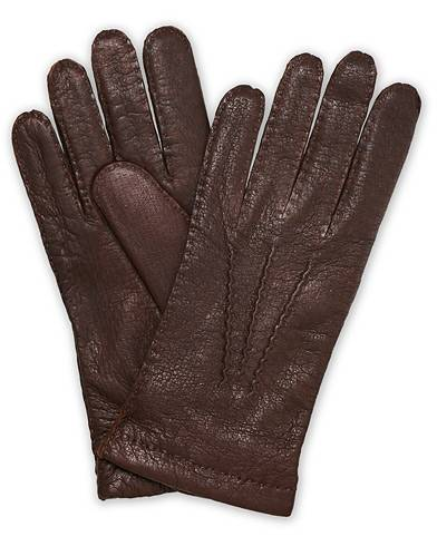 Hestra Peccary Handsewn Cashmere Glove Sienna