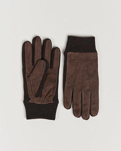 Hestra Geoffery Suede Wool Tricot Glove Espresso