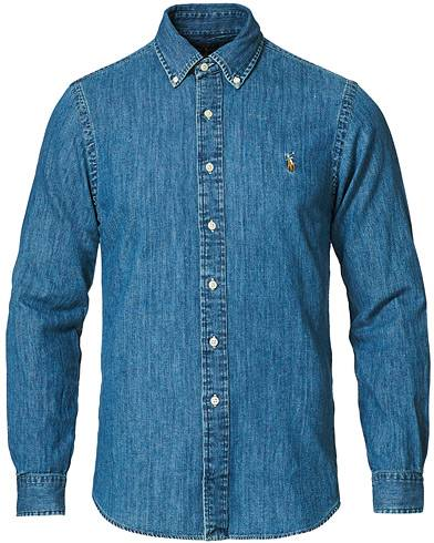 Image of Ralph Lauren Slim Fit Shirt Denim Dark Wash