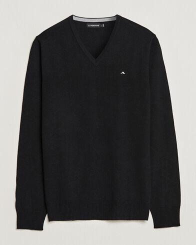 J.Lindeberg Lymann True Merino V-Neck Pullover Black