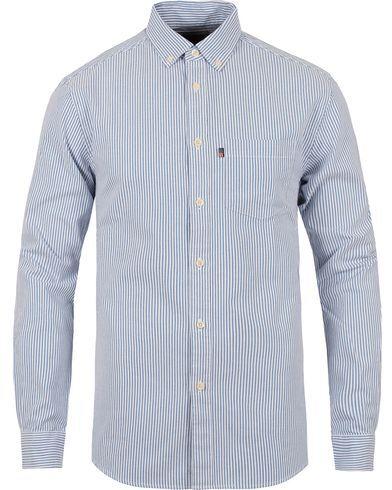Lexington Kyle Oxford Shirt Blue/White Stripe
