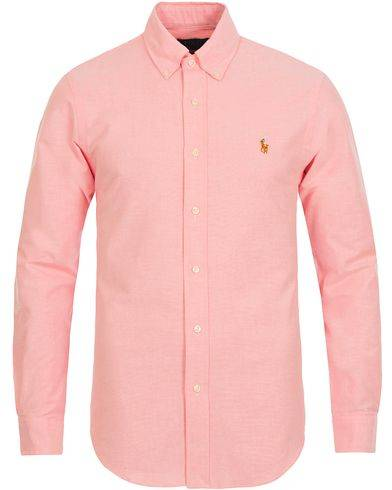 Ralph Lauren Slim Fit Stretch Oxford Shirt Pink
