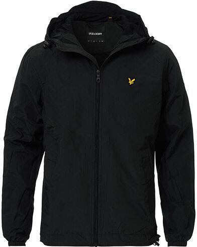 Lyle & Scott Zip Through Hooded Jacket  True Black