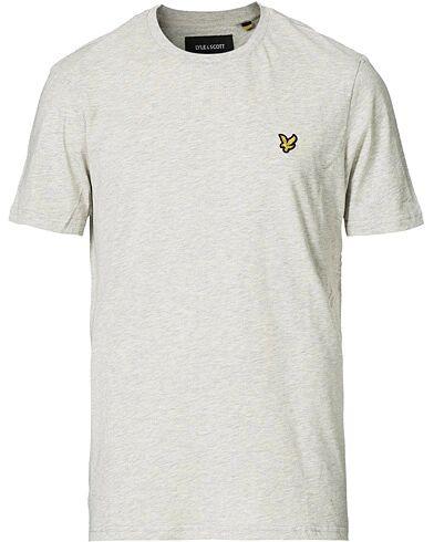 Lyle & Scott Plain Crew Neck Cotton T-Shirt Light Grey Marl