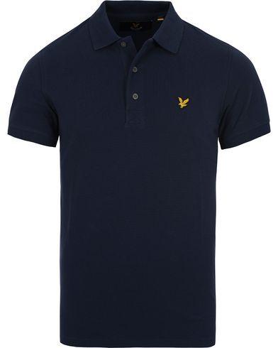 Lyle & Scott Plain Pique Polo Shirt Navy