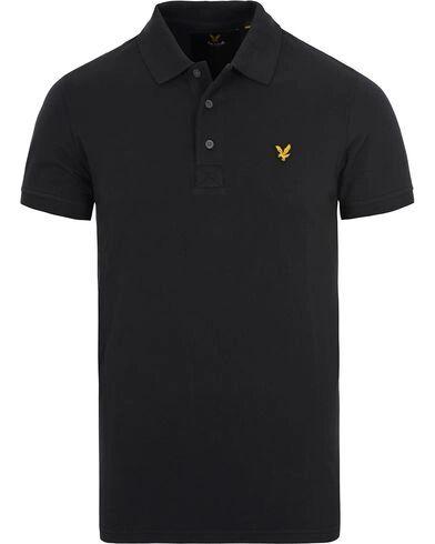 Lyle & Scott Plain Pique Polo Shirt True Black