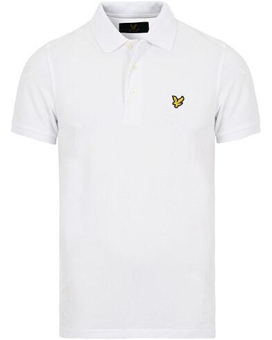 Lyle & Scott Plain Pique Polo Shirt White