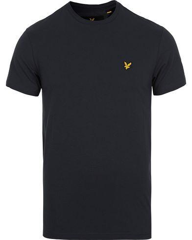 Lyle & Scott Plain Crew Neck Cotton T-Shirt True Black