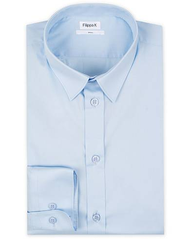 Filippa K Paul Stretch Organic Cotton Shirt Light Blue