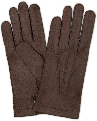 Hestra Peccary Handsewn Unlined Glove Espresso Brown