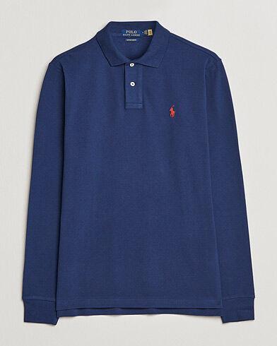 Ralph Lauren Core Fit Long Sleeve Polo Newport Navy